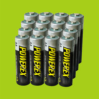 16x AA 2700mAh + case Maha Powerex Rechargeable Battery