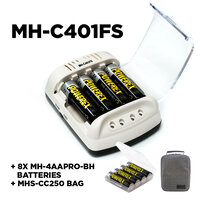 Maha Powerex MHC401FS Charger Set + 8x 2700mAh Rechargeable Batteries