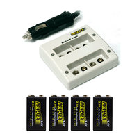 Maha Powerex MH-C490F Charger 9.6V Battery Bundle