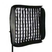 Portable Gridded Photographic Flash Soft Box Diffuser 60x60cm