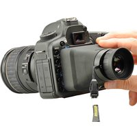 "Hoodman Compact Collapsible HoodLoupe  for Canon 5D3 6D 1DX 1DC 3.2"" LCD Optical Viewfinder Loupe"