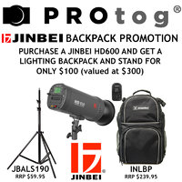 Jinbei HD600 with Lighting Backpack and Light Stand
