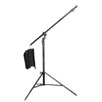 JINBEI 2 in 1 Convertible 2.9m Light Stands with built in 2.2m Boom Arm