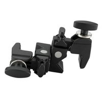 Superb Double Clamp with Adjustable handle - Black