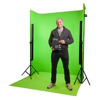 LEDGO U shaped self standing Green Screen kit with 4 LED strip lights
