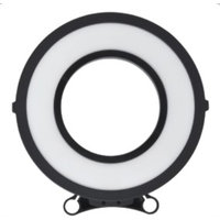 26cm Edgelight LED Ring Light variable colour 2 batteries 1 charger and carry case