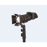 Single 50W Fresnel LED light kit with batteries and charger