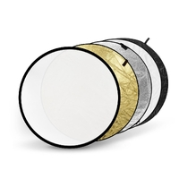 5 in 1 80cm Round Photographic Reflector White Silver Gold Black Translucent
