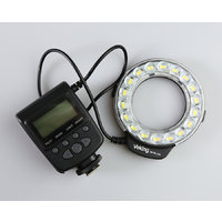 Voking LED macro ring light with 52-77mm lens threads