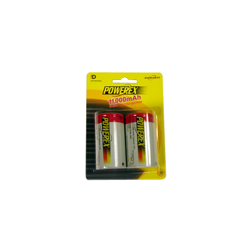 Maha Powerex 11000mAh rechargeable 2xD Batteries (2pk)