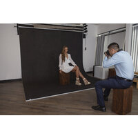 Easiframe® Curved Black Fabric Backdrop Skin