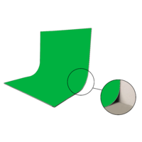 Easiframe® Curved Chromakey Green Fabric Skin