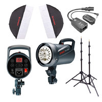Jinbei DS300 Twin head studio flash kit