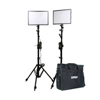LEDGO LUXPAD E268C twin LED light kit with batteries, stands and grids