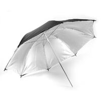 "Black Silver 40"" Photographic Reflective Umbrella"