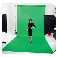Vinyl backdrop roll 6m x 2.7m green 510gsm with aluminium roller bar