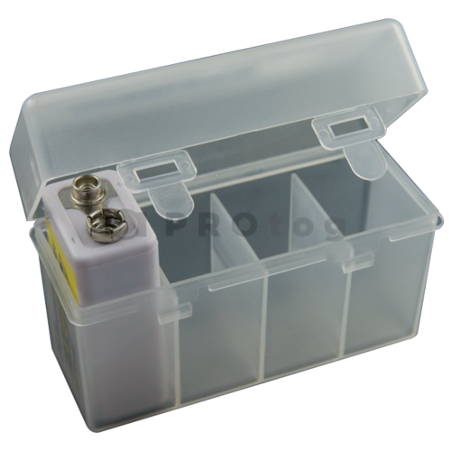 4-cell 9V Battery storage case