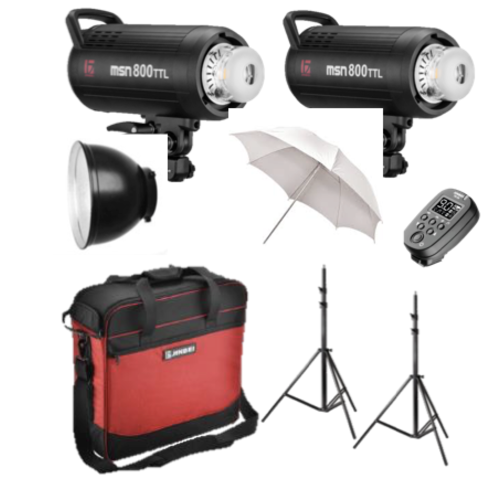 Jinbei MSN III twin 400ws Studio lighting kit