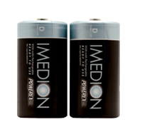 Powerex Imedion Rechargable 9500mAh D Batteries 2 Pack